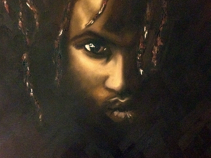 The Darkness oil portrait by Aurora Whittet Best