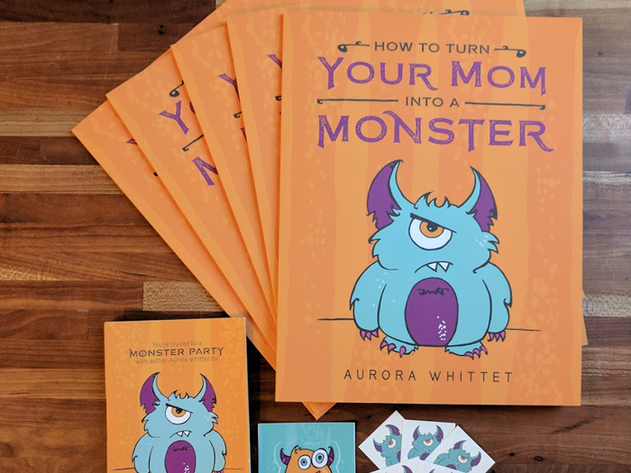 How to Turn Your Mom into a Monster by Aurora Whittet Best book, tattoos and bookmarkes